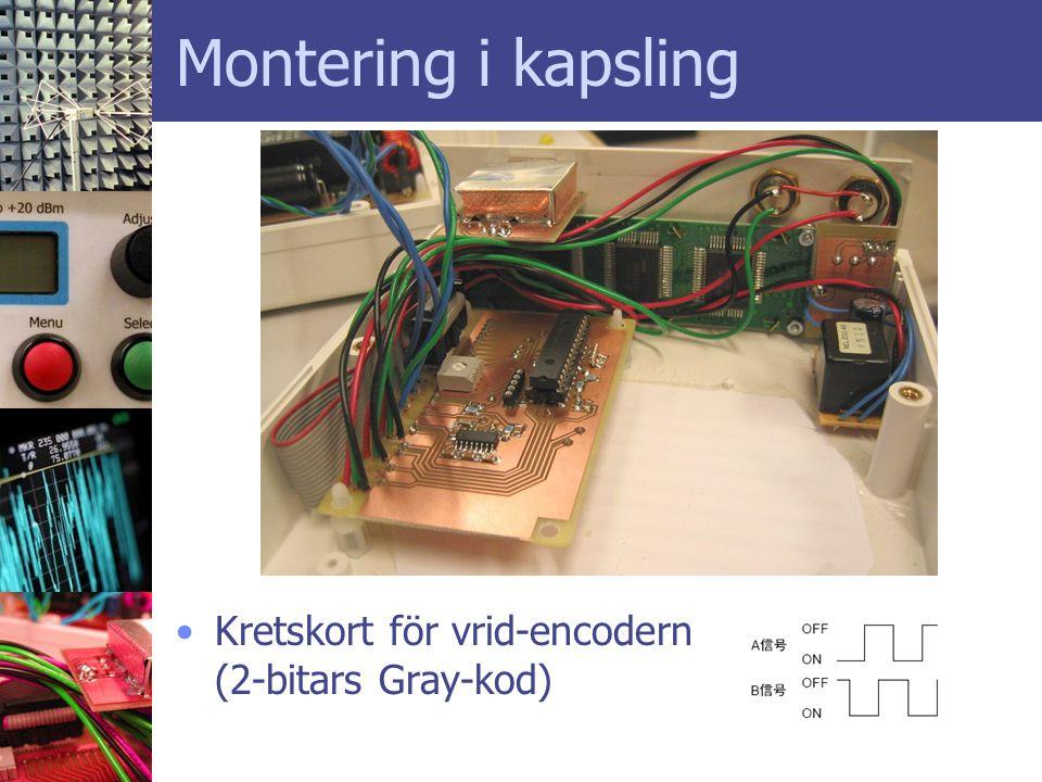 Montering i kapsling Kretskort för vrid-encodern (2-bitars Gray-kod)