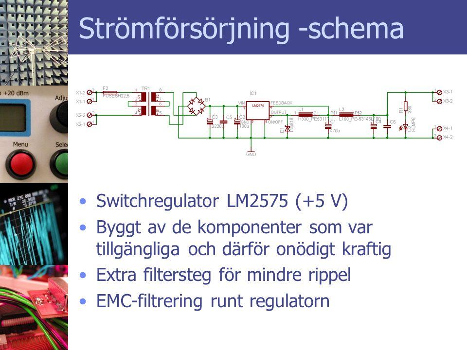 Strömförsörjning -schema