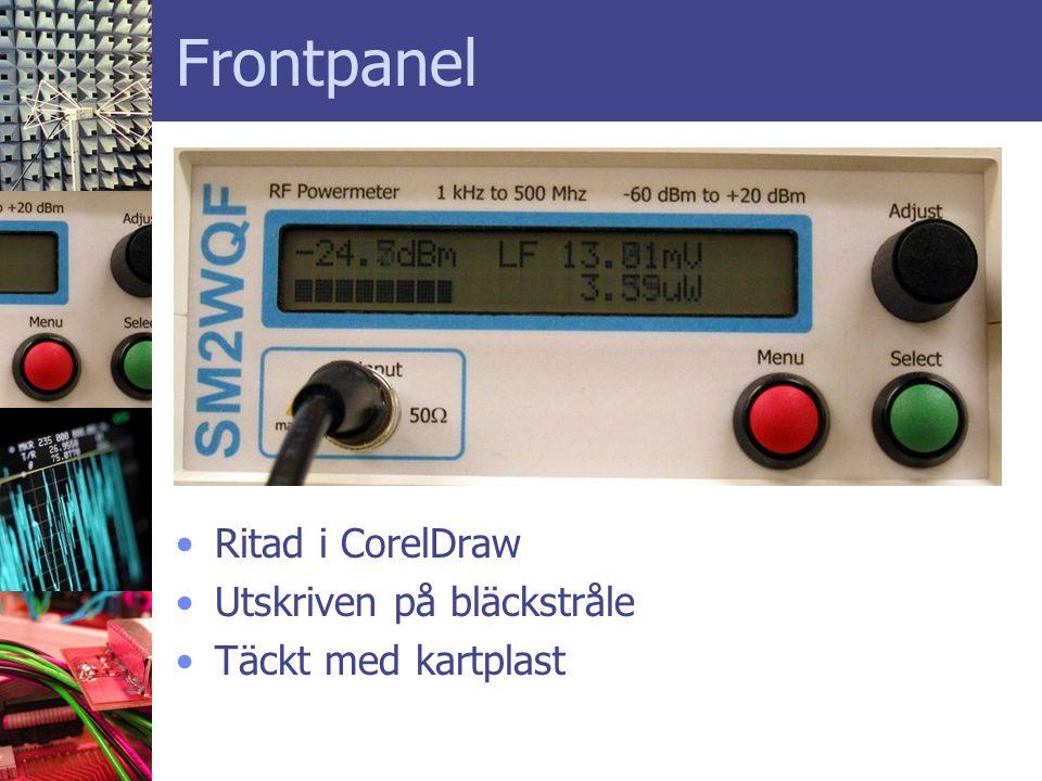 Frontpanel Ritad i CorelDraw Utskriven på bläckstråle
