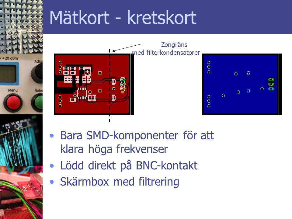 Mätkort - kretskort Bara SMD-komponenter för att klara höga frekvenser