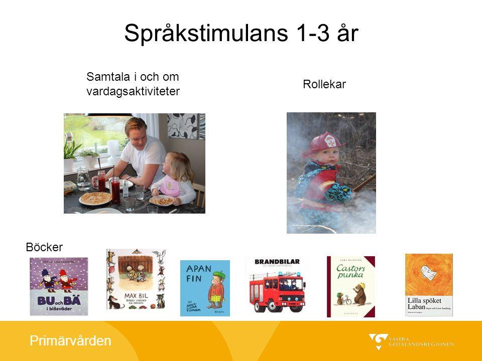 Språkstimulans 1-3 år Samtala i och om vardagsaktiviteter Rollekar