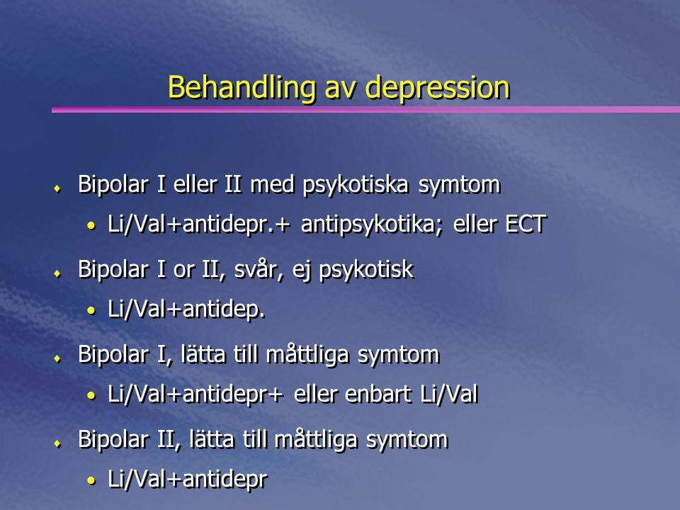 Behandling av depression