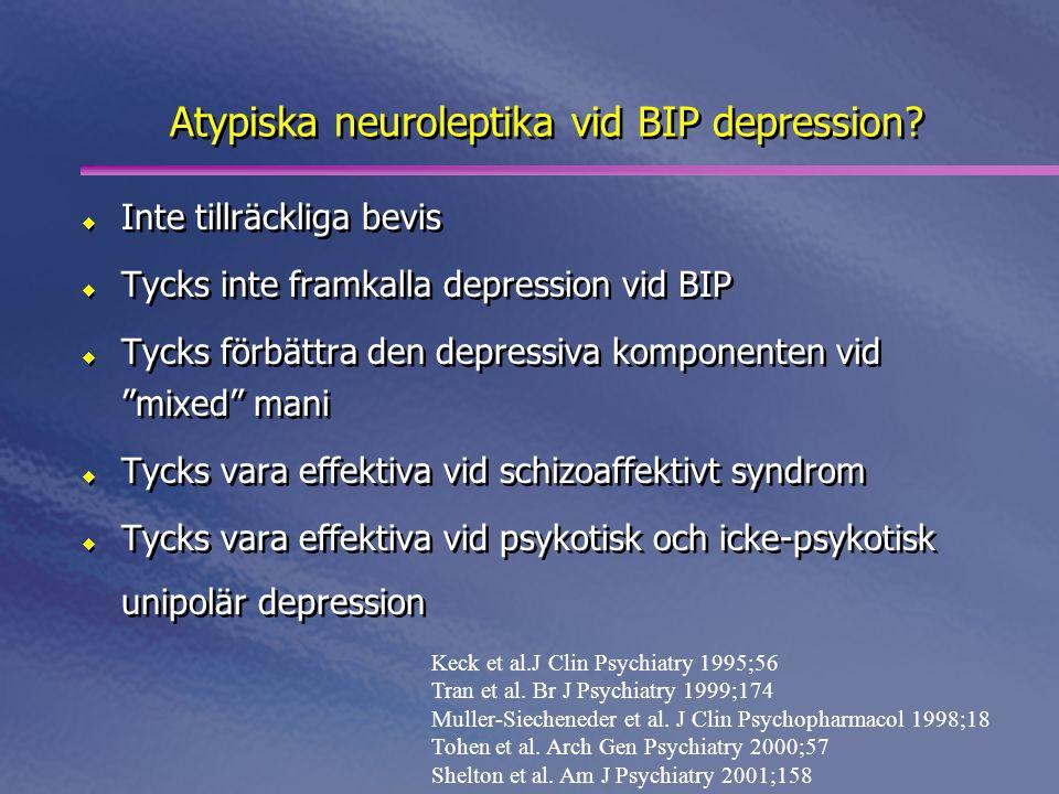 Atypiska neuroleptika vid BIP depression