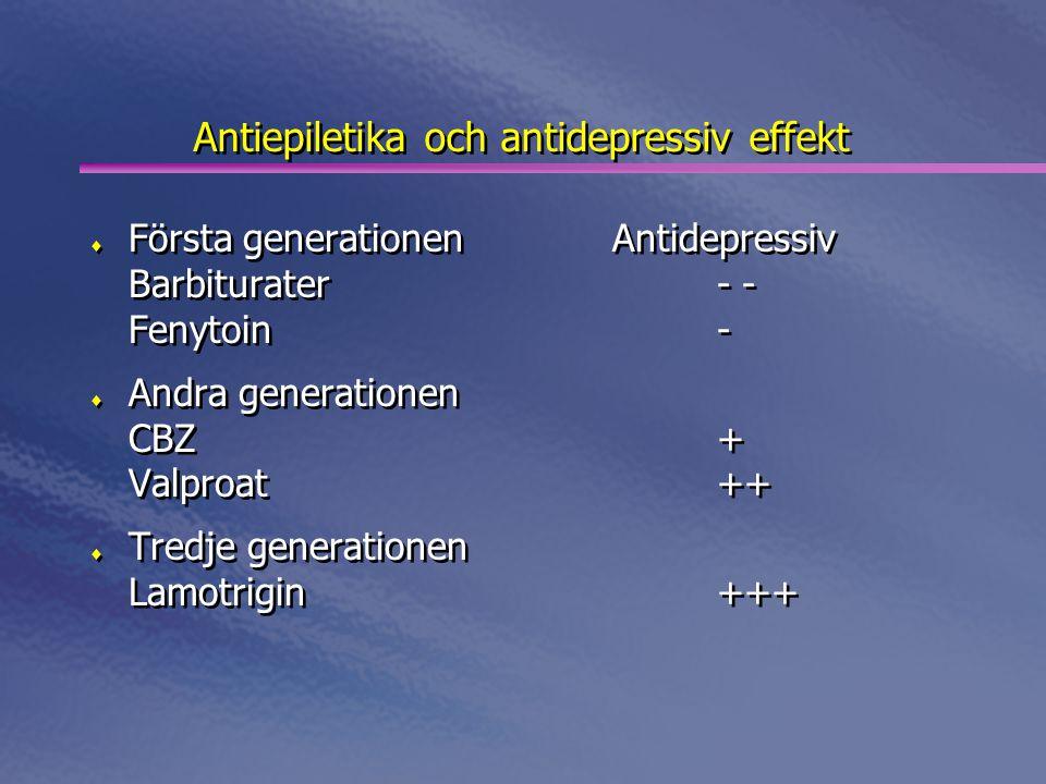 Antiepiletika och antidepressiv effekt