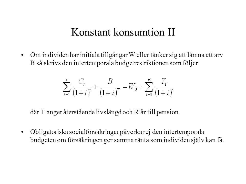 Konstant konsumtion II