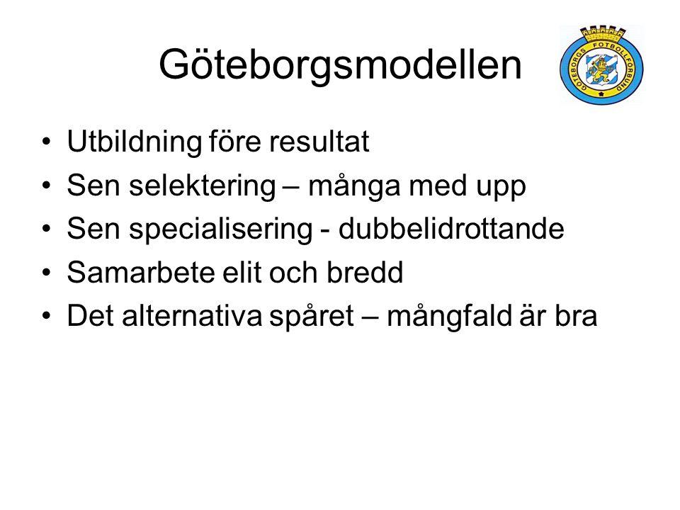 Göteborgsmodellen Utbildning före resultat