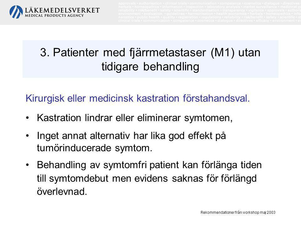 3. Patienter med fjärrmetastaser (M1) utan tidigare behandling