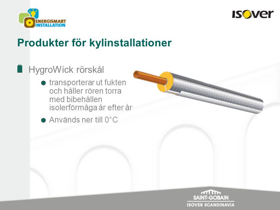 Produkter för kylinstallationer