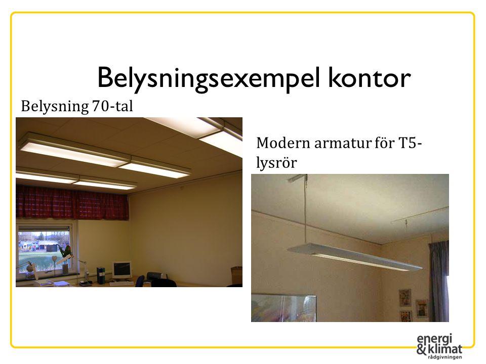 Belysningsexempel kontor