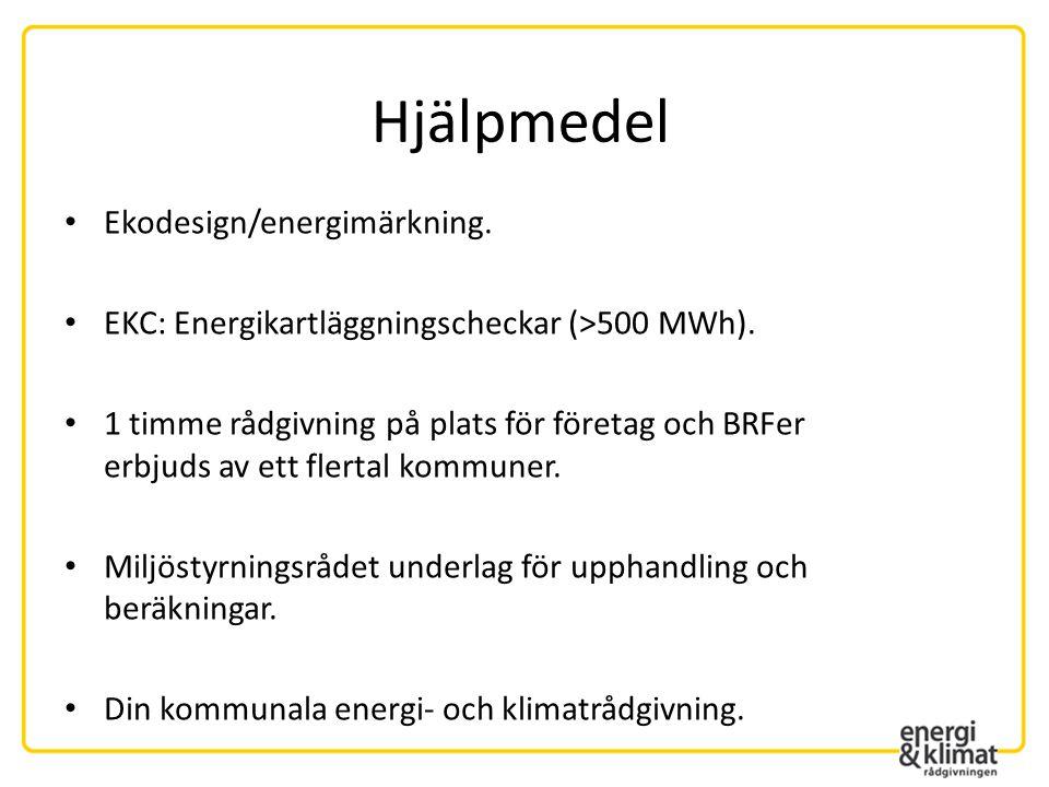 Hjälpmedel Ekodesign/energimärkning.