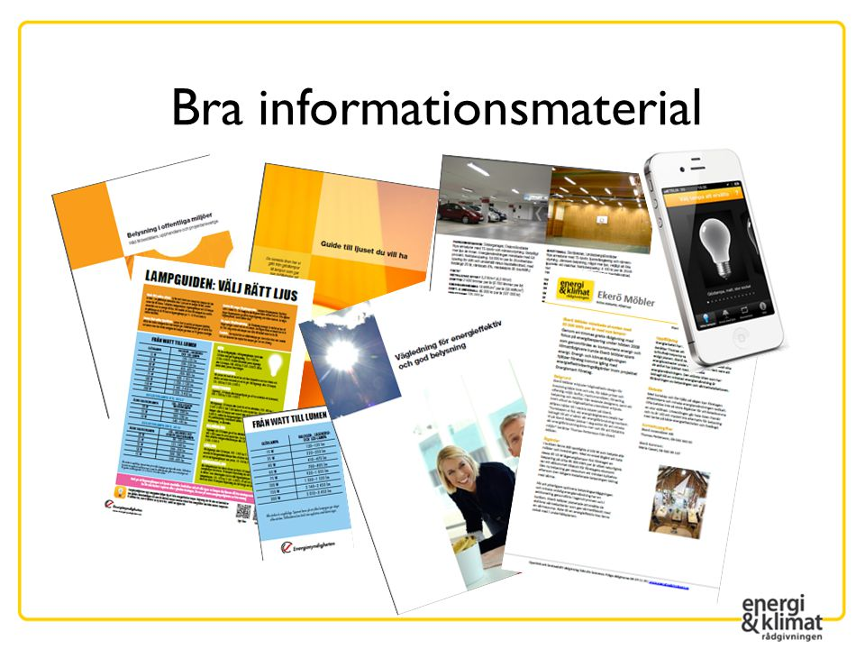 Bra informationsmaterial