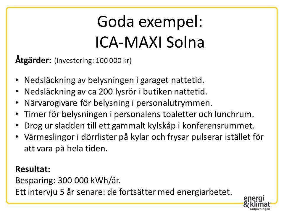 Goda exempel: ICA-MAXI Solna