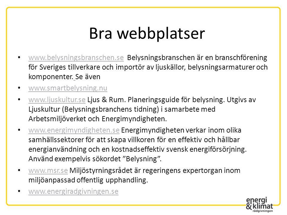Bra webbplatser