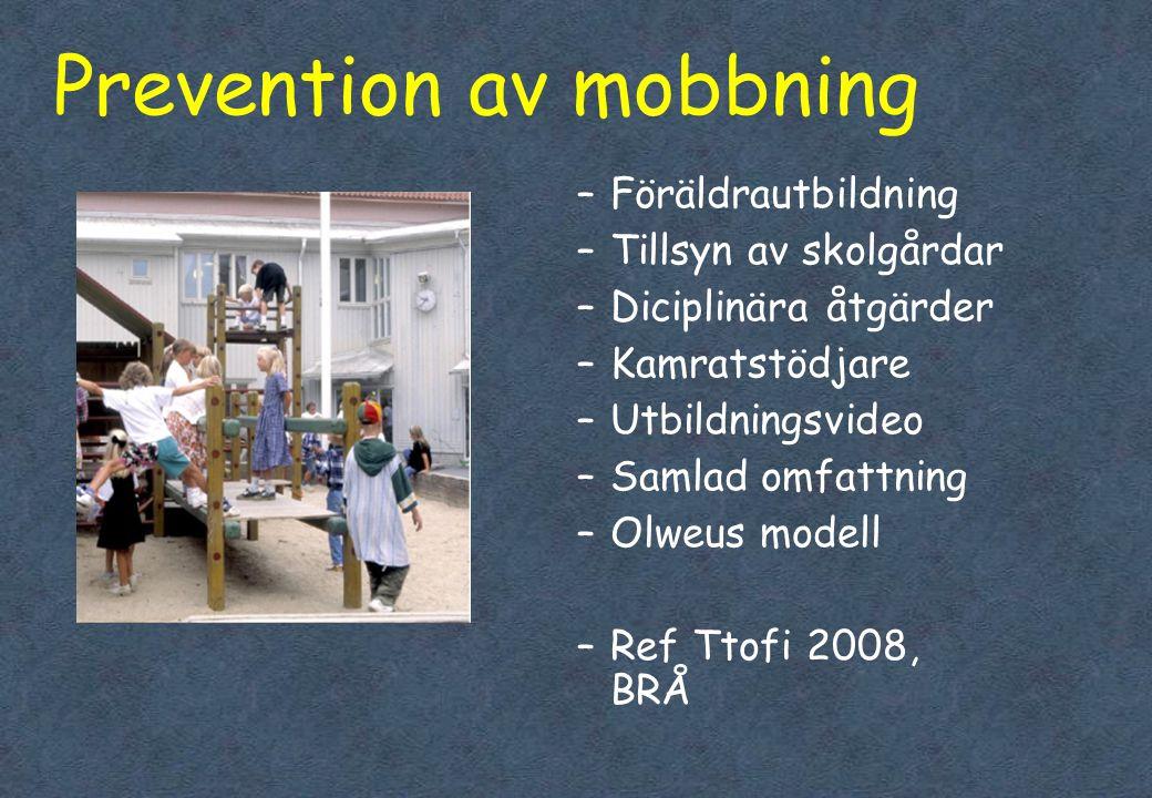 Prevention av mobbning