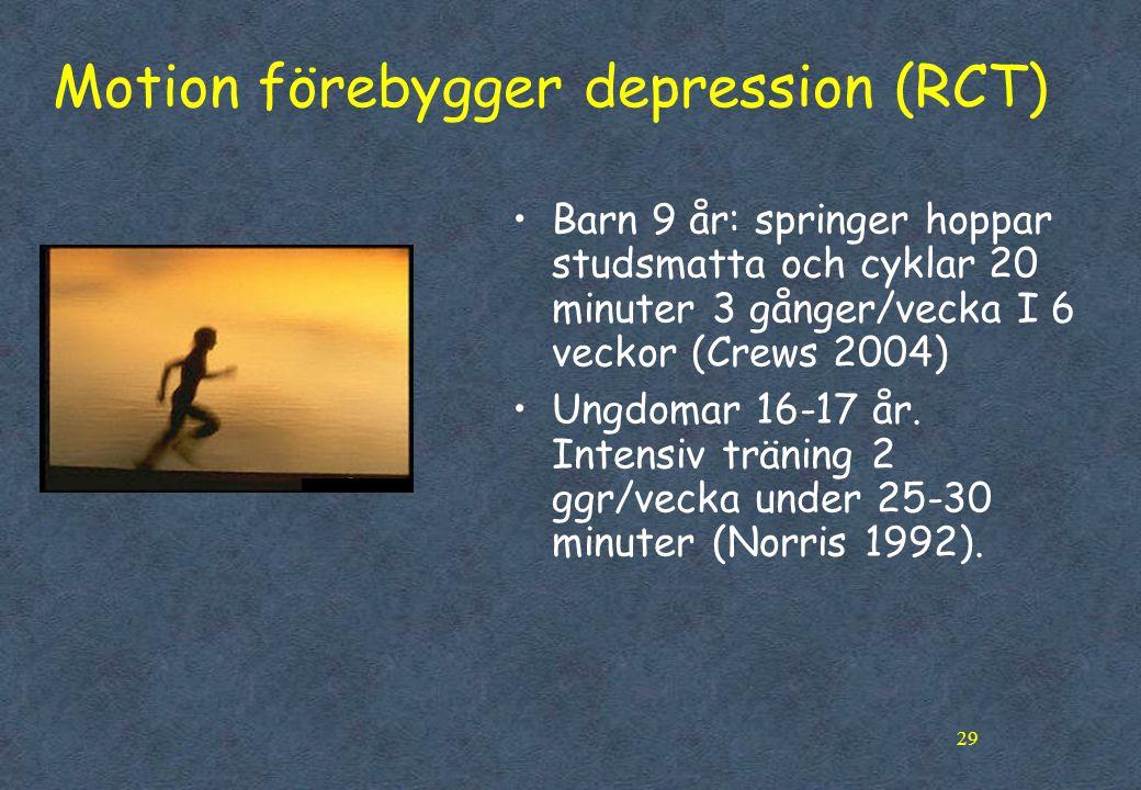Motion förebygger depression (RCT)
