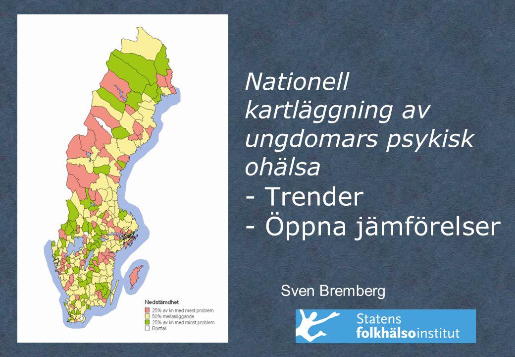 Nationell kartläggning av ungdomars psykisk ohälsa - Trender - Öppna jämförelser