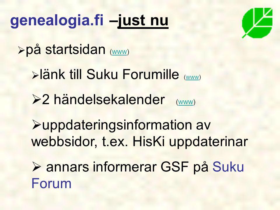 genealogia.fi –just nu 2 händelsekalender (www)