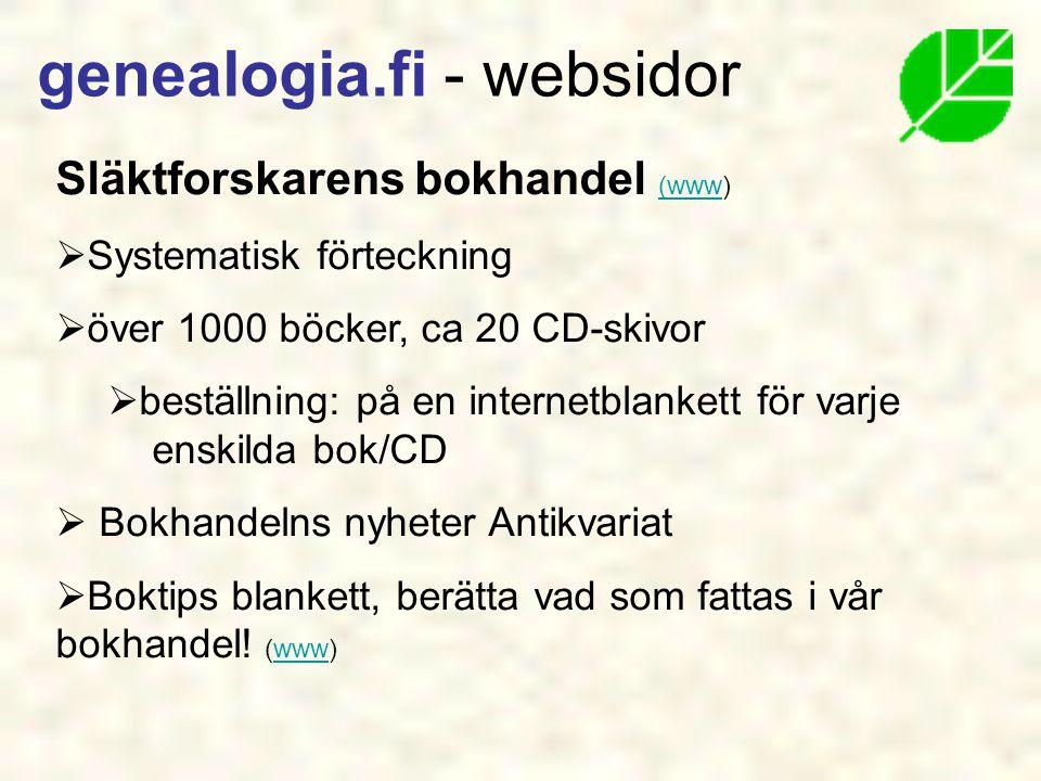 genealogia.fi - websidor