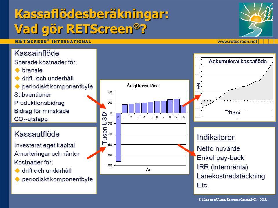 Kassaflödesberäkningar: Vad gör RETScreen®