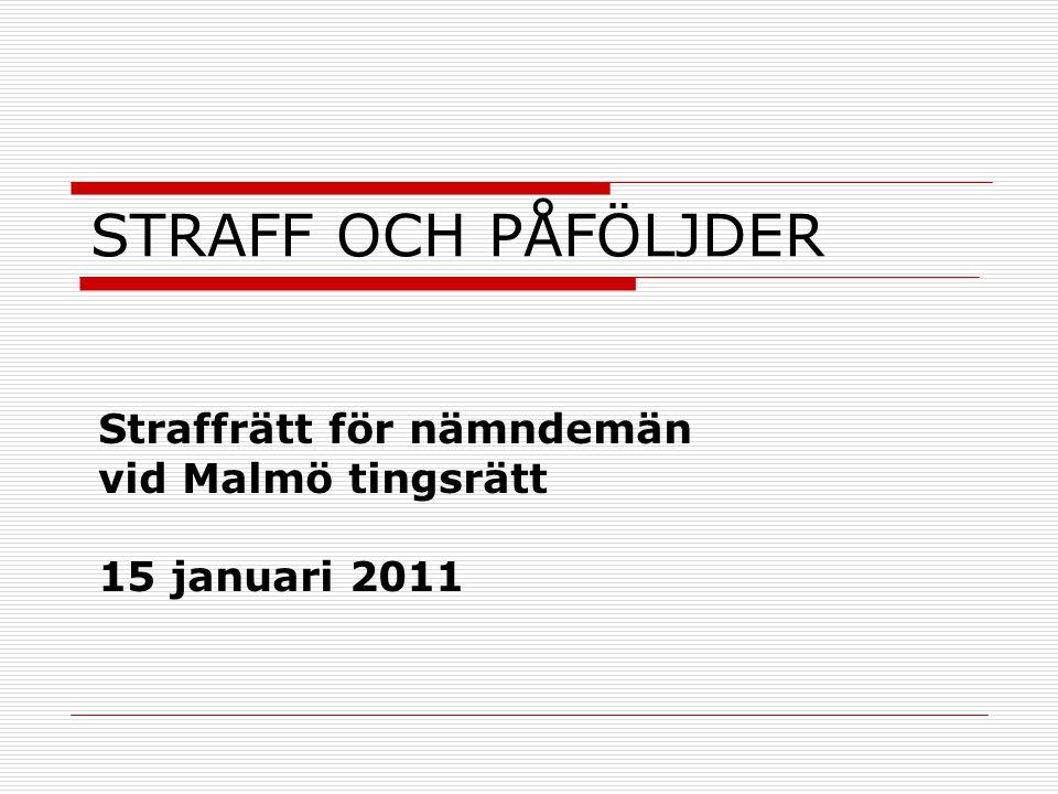 Straffrätt för nämndemän vid Malmö tingsrätt 15 januari 2011
