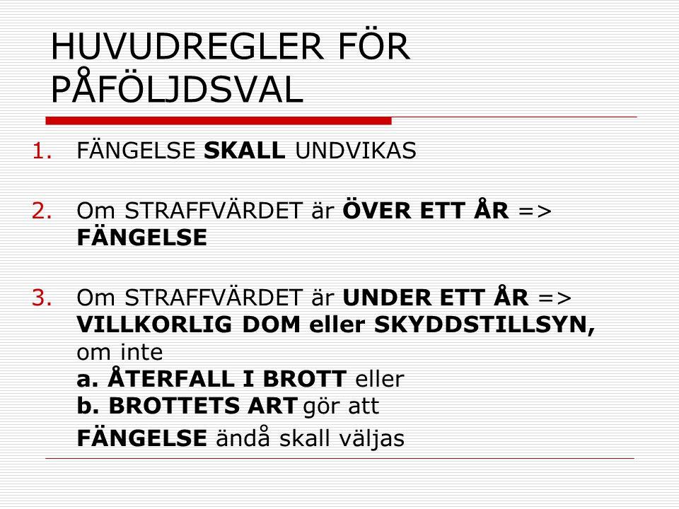 HUVUDREGLER FÖR PÅFÖLJDSVAL