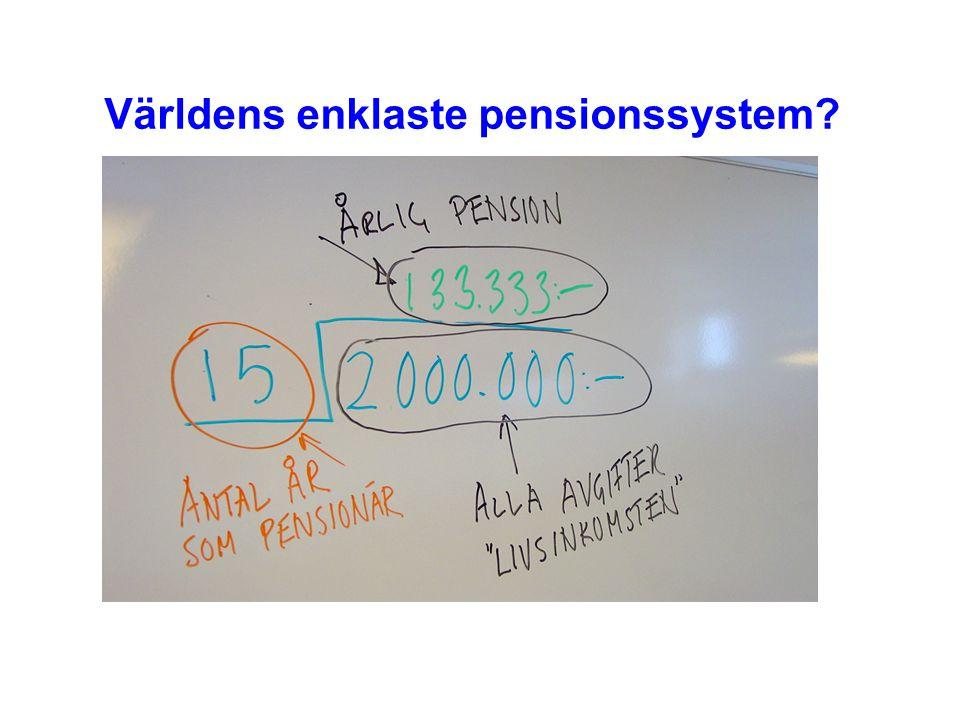 Världens enklaste pensionssystem