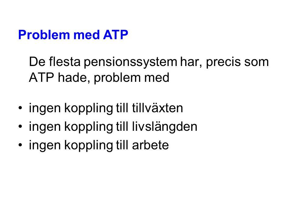 De flesta pensionssystem har, precis som ATP hade, problem med