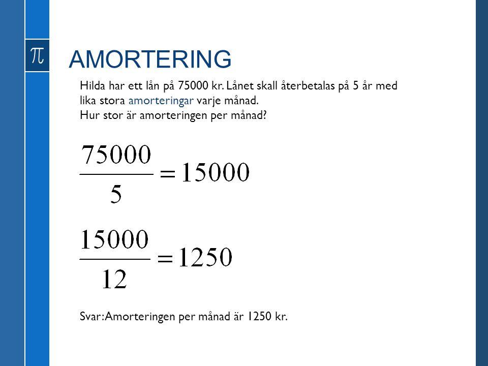 AMORTERING