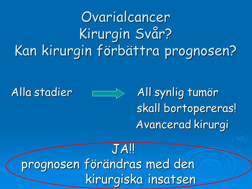 Ovarialcancer Kirurgin Svår Kan kirurgin förbättra prognosen