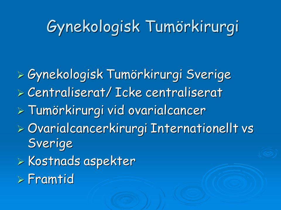 Gynekologisk Tumörkirurgi