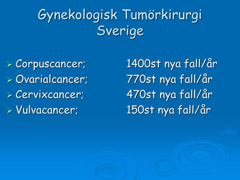 Gynekologisk Tumörkirurgi Sverige