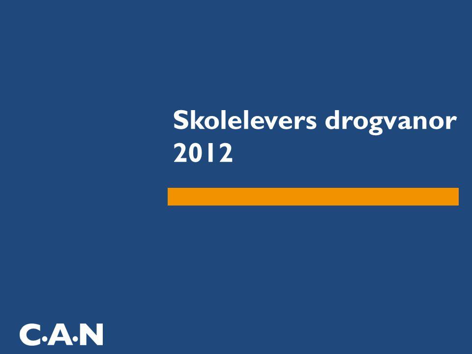 Skolelevers drogvanor 2012