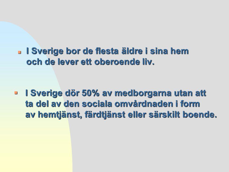 2017-04-03 I Sverige bor de flesta äldre i sina hem och de lever ett oberoende liv.