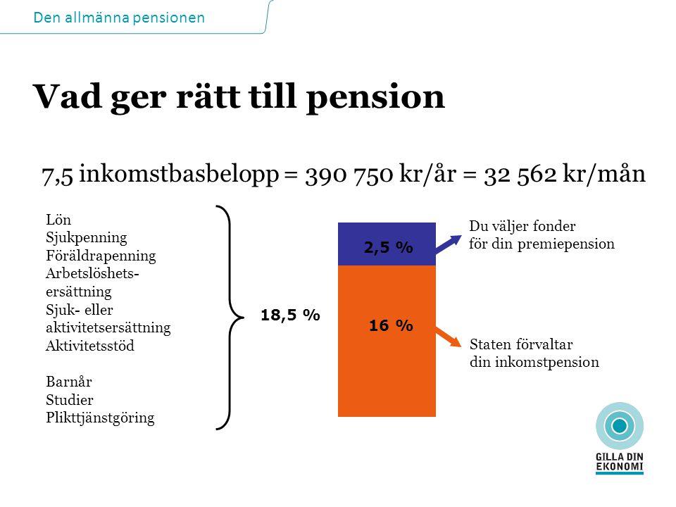 Vad ger rätt till pension