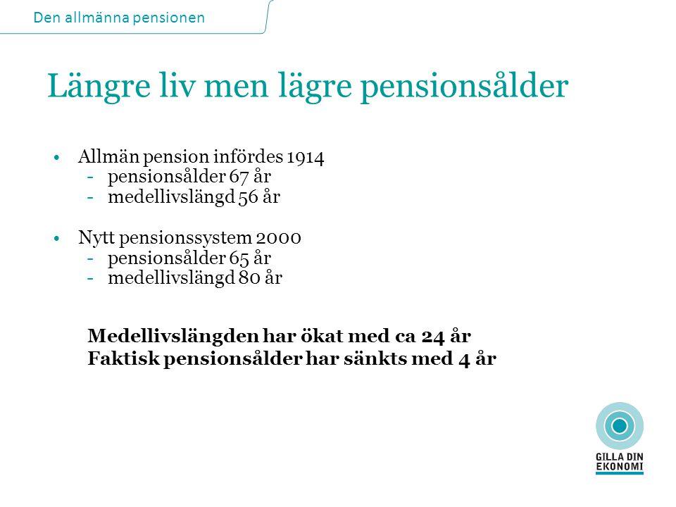 Längre liv men lägre pensionsålder