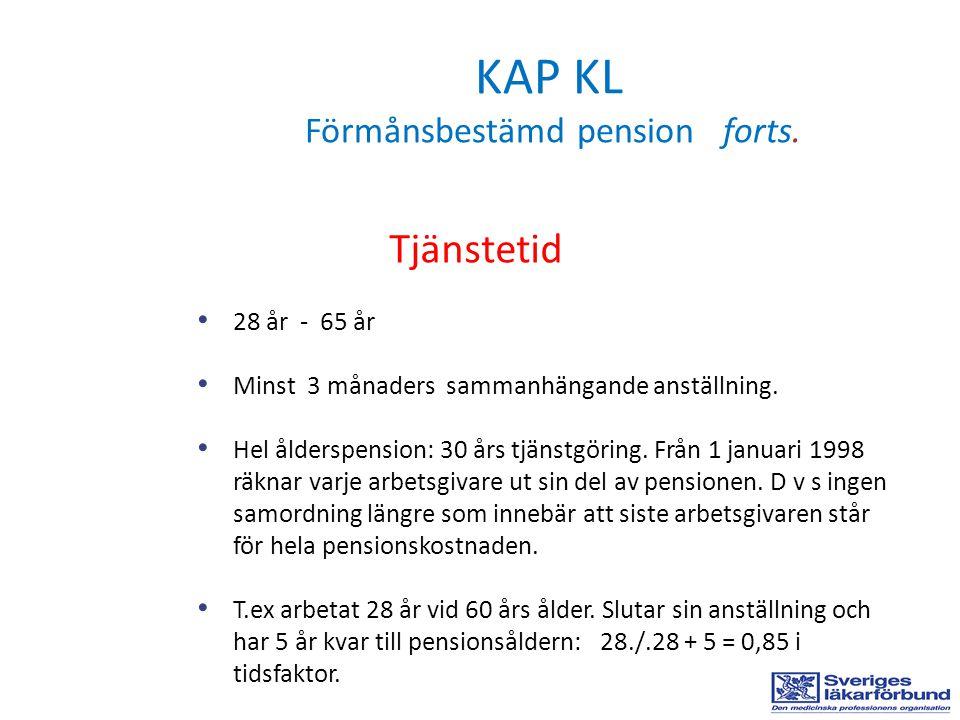 KAP KL Förmånsbestämd pension forts.