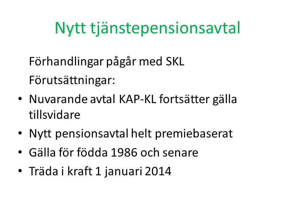 Nytt tjänstepensionsavtal