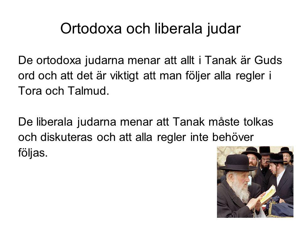 Ortodoxa och liberala judar