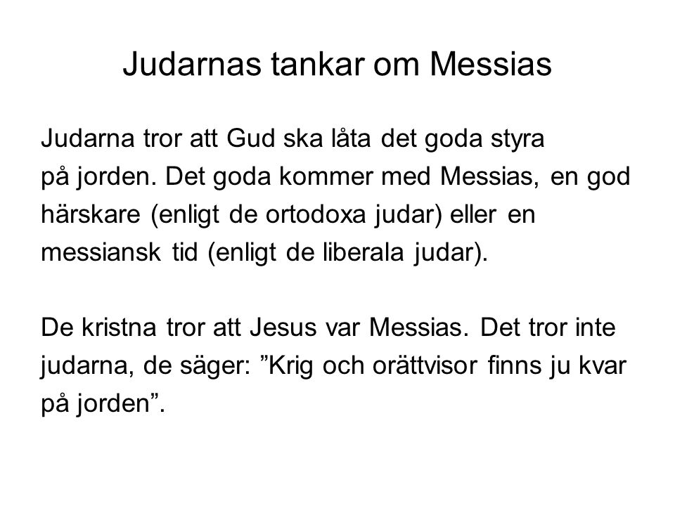 Judarnas tankar om Messias