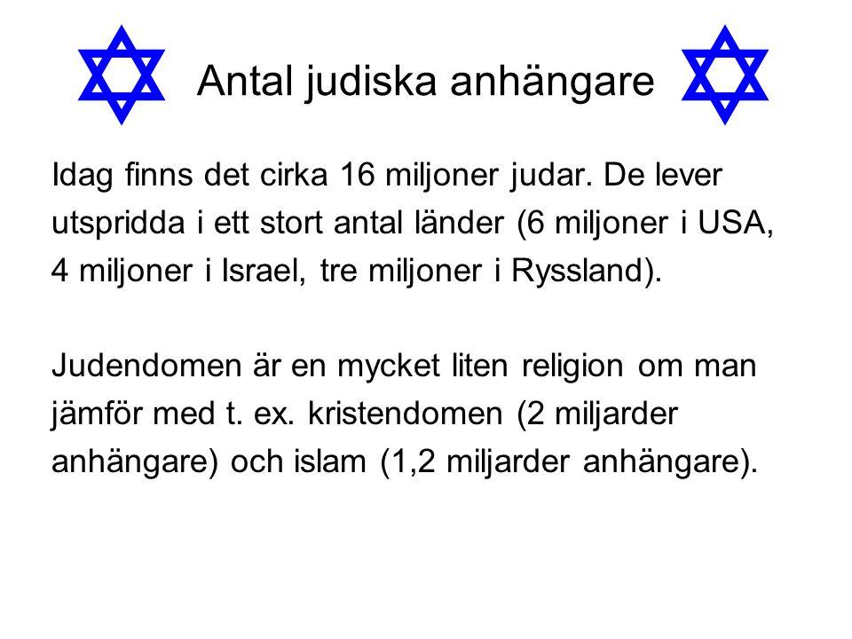 Antal judiska anhängare