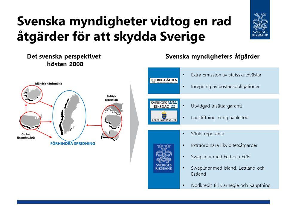 Svenska myndigheter vidtog en rad åtgärder för att skydda Sverige