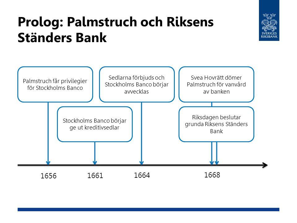 Prolog: Palmstruch och Riksens Ständers Bank