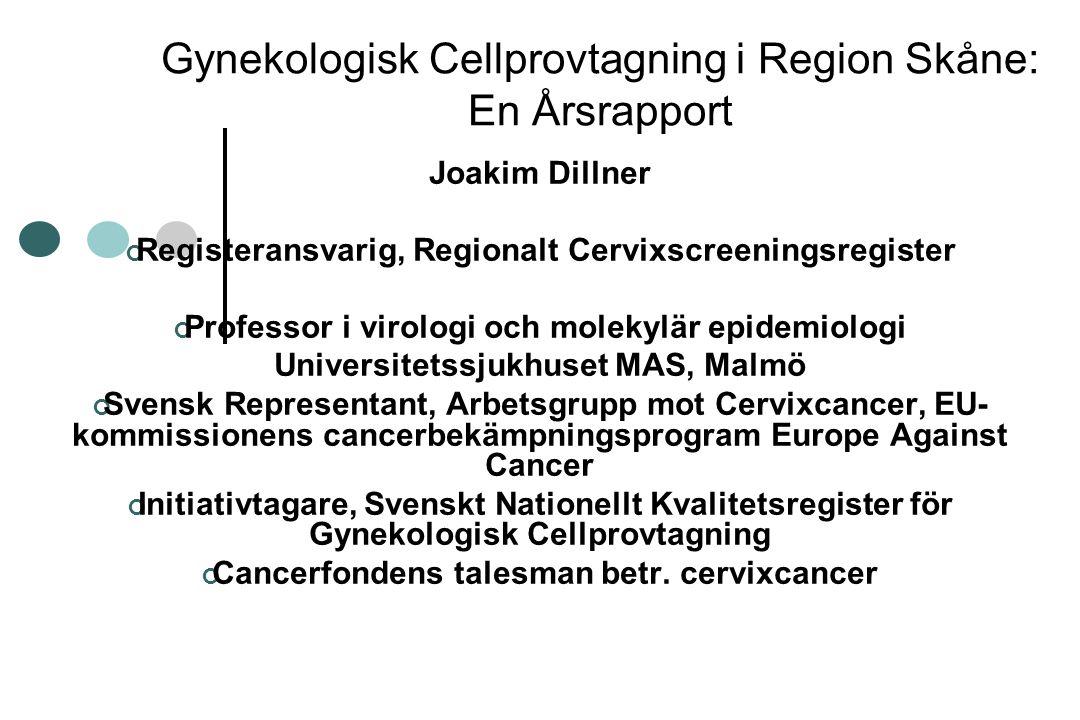 Gynekologisk Cellprovtagning i Region Skåne: En Årsrapport