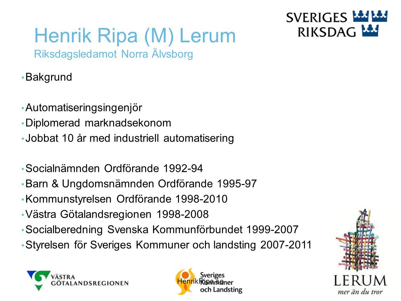 Henrik Ripa (M) Lerum Riksdagsledamot Norra Älvsborg