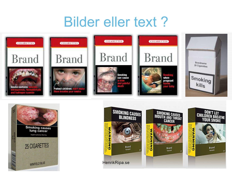 Bilder eller text HenrikRipa.se