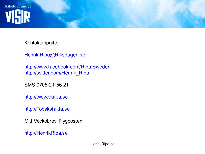 Mitt Veckobrev Flygposten http://HenrikRipa.se