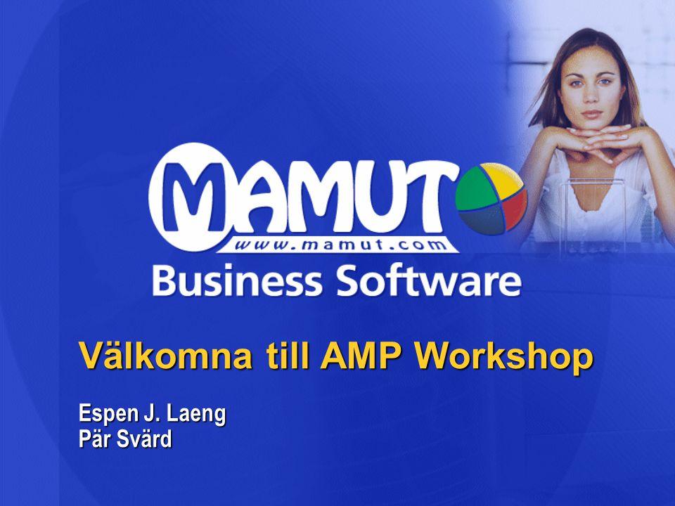 Välkomna till AMP Workshop