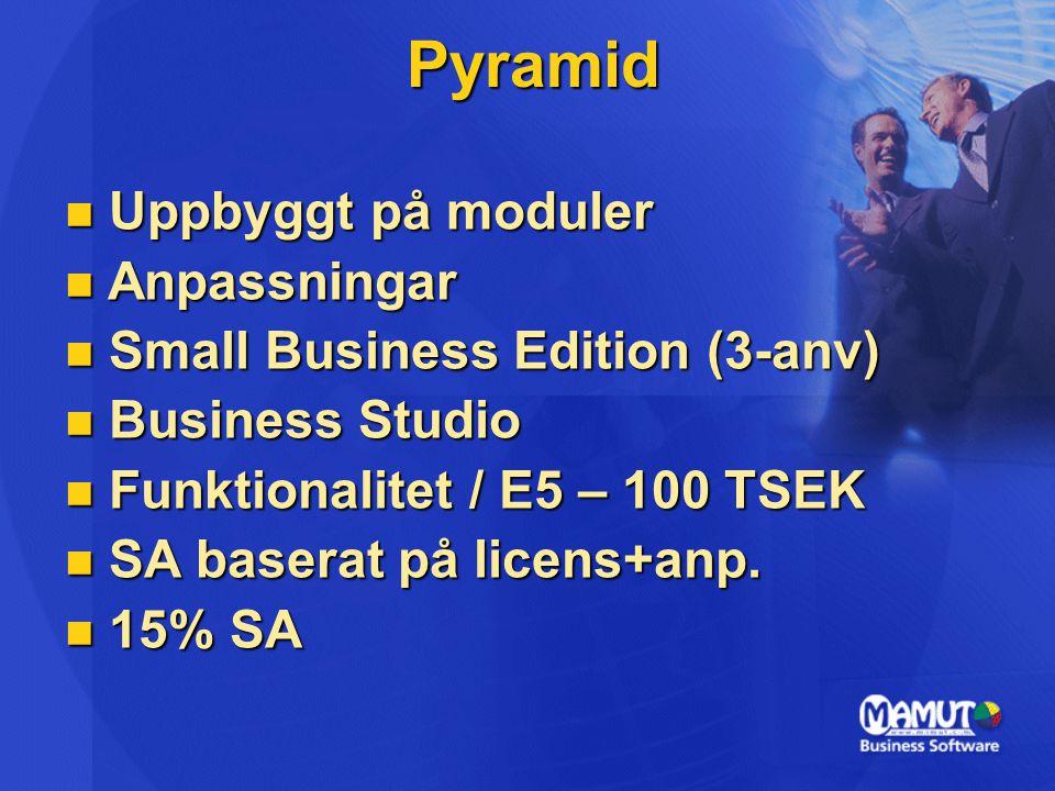 Pyramid Uppbyggt på moduler Anpassningar