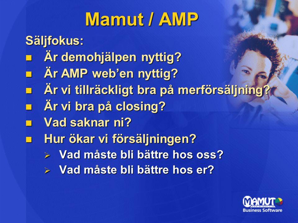 Mamut / AMP Säljfokus: Är demohjälpen nyttig Är AMP web'en nyttig