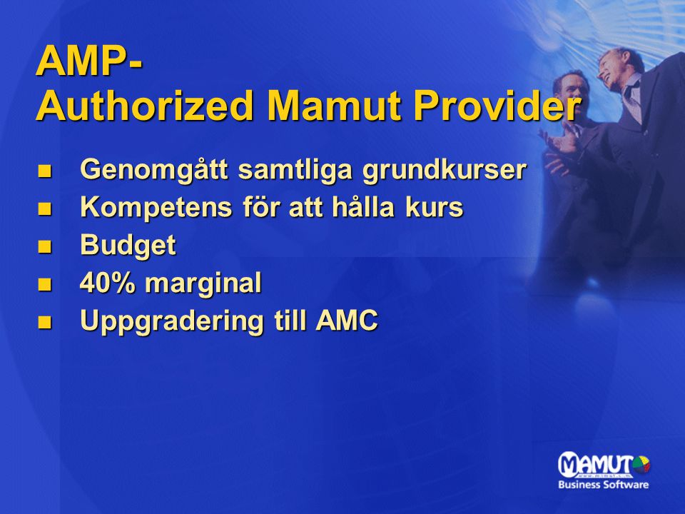 AMP- Authorized Mamut Provider